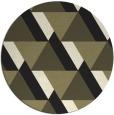 rug #1143943 | round black rug