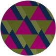 rug #1143963 | round green rug