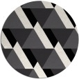 rug #1144207 | round black abstract rug
