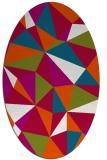 rug #1145139 | oval red rug