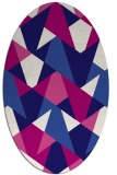 rug #1146964 | oval graphic rug