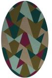 rug #1146975 | oval brown rug