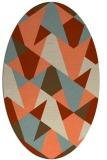 rug #1147079 | oval orange rug