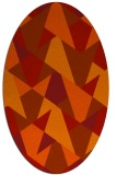rug #1147125 | oval graphic rug