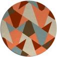 rug #1147815 | round orange rug