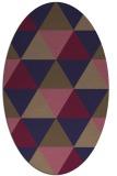 rug #1148807 | oval blue-violet rug
