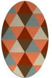 rug #1148919 | oval orange rug