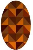 rug #1152658 | oval abstract rug