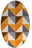 rug #1152747 | oval light-orange rug