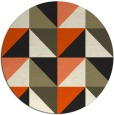 rug #1153143 | round black abstract rug