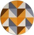 rug #1153483 | round light-orange rug