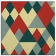 rug #1154187   square yellow rug