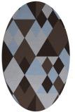 rug #1154331   oval blue-violet rug