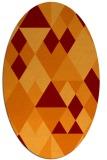 rug #1154431 | oval red-orange rug