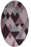 rug #1154475 | oval purple rug