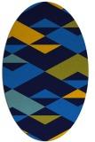 rug #1163455   oval blue rug