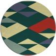 rug #1164491 | round yellow rug