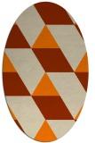 rug #1165263 | oval orange rug