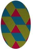 rug #1165385 | oval abstract rug