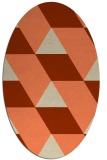 rug #1165479 | oval orange rug