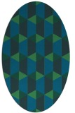 rug #1167167 | oval blue-green rug