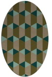 rug #1167215 | oval brown rug