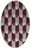 rug #1167267 | oval pink rug