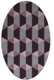 rug #1167355 | oval purple rug