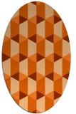 rug #1167379 | oval red-orange rug