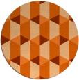 rug #1168115 | round red-orange rug