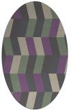 rug #1169128 | oval abstract rug