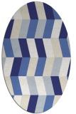 rug #1169239   oval blue rug