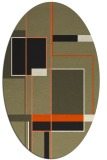 rug #1187409 | oval graphic rug