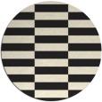 rug #1195503 | round black rug