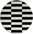 rug #1195771 | round black rug