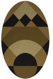 rug #1202123 | oval mid-brown rug
