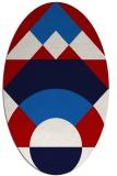 rug #1202364 | oval abstract rug