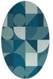 rug #1209531 | oval abstract rug