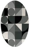 rug #1209611 | oval black rug
