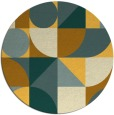 rug #1210531   round light-orange rug