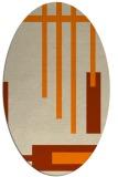 rug #1211303 | oval orange rug