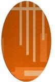 rug #1211583 | oval red-orange rug