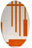 rug #1211591 | oval red-orange rug