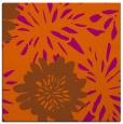 rug #1214919 | square red-orange rug