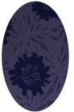 rug #1215087   oval blue-violet rug