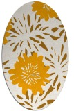 rug #1215359 | oval light-orange rug