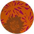 rug #1216023 | round red-orange rug