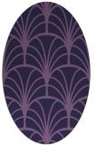 rug #1216939 | oval blue-violet rug