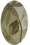 rug #1220867 | oval light-green rug