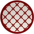 rug #122156   round borders rug